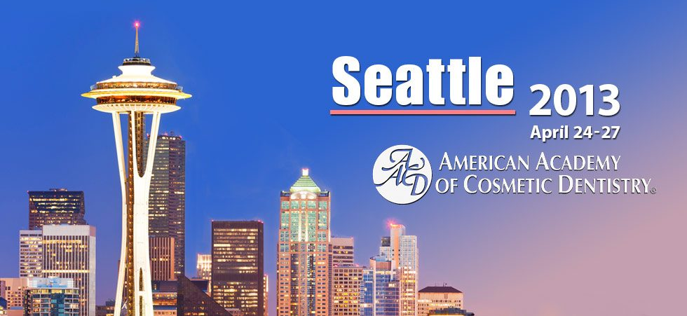 2013 Lectures and Seminars | American Academy of Cosmetic Dentistry National Symposium in Seattle, WA | Advanced Treatment Planning | Dr. Steven Goldstein | Implant, Restorative & Cosmetic Dentistry | Scottsdale, AZ